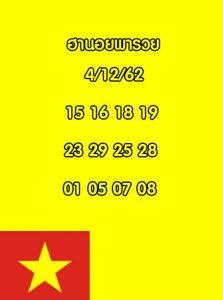 แนวทางหวยฮานอย 4/12/62 ชุดที่ 5