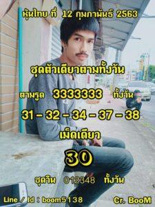 หวยหุ้นไทย 12/2/63 ชุดที่1