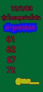 หวยหุ้นไทย 12/2/63 ชุดที่4