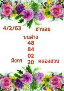 หวยฮานอย 4/2/63 ชุดที่ 7