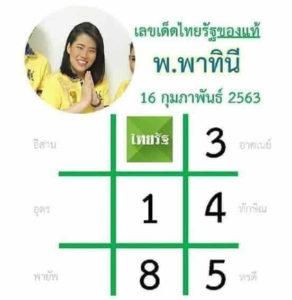 หวยไทยรัฐ 16/2/63