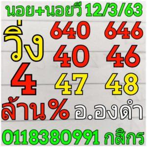 หวยฮานอยพารวย 12/3/63  ชุดที่ 2