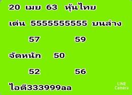 เลขเด็ดหวยหุ้น 20/4/63 ชุดที่5