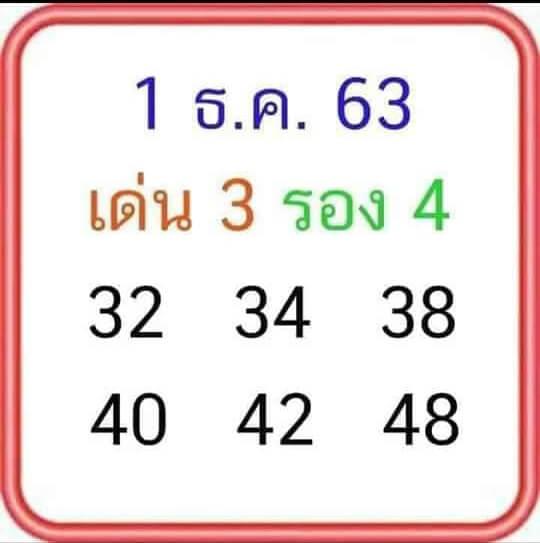 หวยลุงโชคดี 1/12/63
