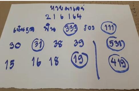 หวยมาเลย์ 2-6-64ชุด13