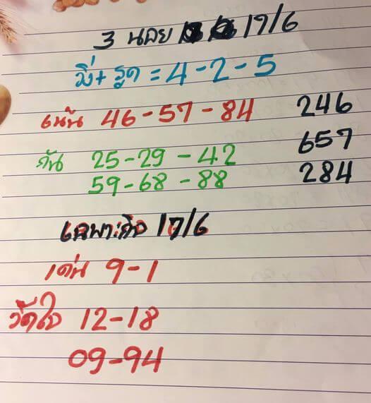 หวยฮานอย17-6-64ชุด3