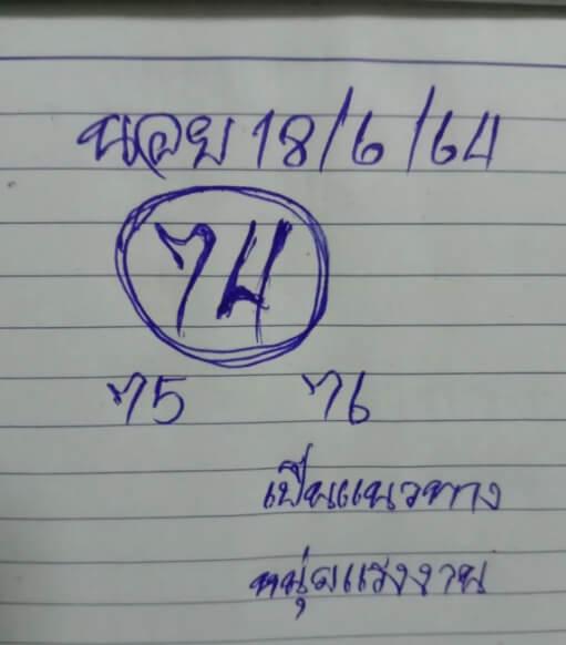 หวยฮานอย18-6-64ชุด11