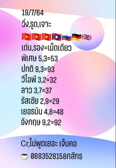 หวยฮานอย19-7-64ชุด6