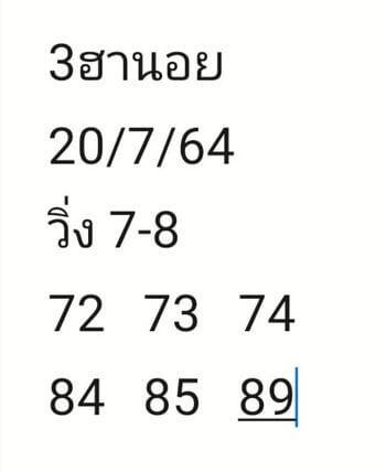 หวยฮานอย20-7-64ชุด3