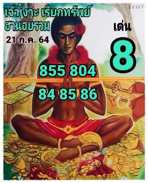หวยฮานอย21-7-64ชุด6