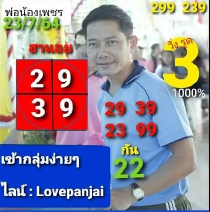 หวยฮานอย23-7-64ชุด3