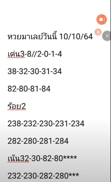 หวยมาเลย์ 10-10-64 ชุด 2